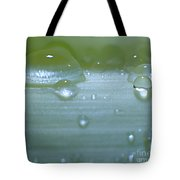 Tiny Water Drops On Stipe Tote Bag