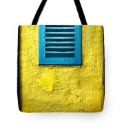 Tiny Window With Closed Shutter Tote Bag