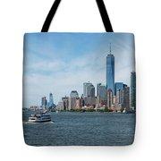 Tip Of Manhattan Wide Tote Bag