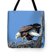 Tip Toeing Across Nest Tote Bag