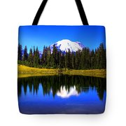 Tipsoo Lake And Mt Rainier Tote Bag