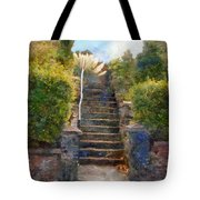 Tipsy Stairs Tote Bag
