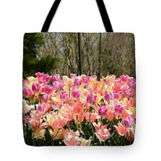 Tiptoe Among The Tulips Tote Bag