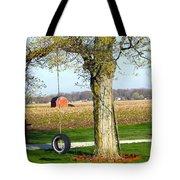 Tree Tire Swing  Tote Bag