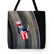Tire Valve Stem With Red Die Tote Bag