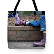 Tired Boots Tote Bag