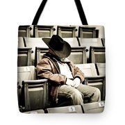 Tired Buckaroo Tote Bag