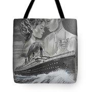 Titanic Drawing With Kate And Leonardo Tote Bag