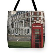 Titanic Hotel And Red Phone Box Tote Bag