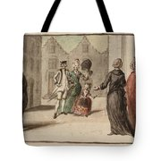 Title A Continental Street Scene With A Shrine Tote Bag