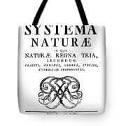 Title Page, Systema Naturae, Carl Tote Bag
