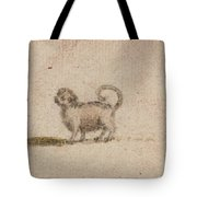 Title Sketch Of A Pug Dog Tote Bag