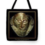 Titled Mask Of Agamemnon Tote Bag
