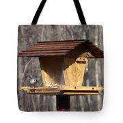 Titmouse Feeding Tote Bag by Douglas Barnett