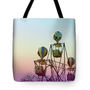 Tivoli Balloon Ride Tote Bag