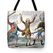 T.jefferson Cartoon, 1809 Tote Bag