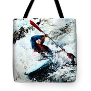 To Conquer White Water Tote Bag