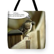 To Fly Or Not To Fly Tote Bag