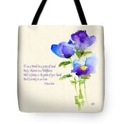 To See The World In A Grain Of Sand Tote Bag