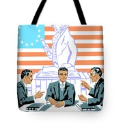 To Speak Up For Democracy Read Up On Democracy Tote Bag