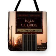 To The Bulls Game Tote Bag