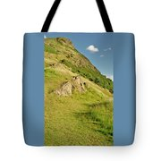 To The Top Of Arthur's Seat. Tote Bag