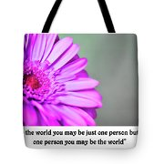 To The World Tote Bag