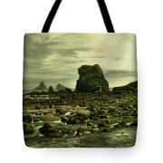 To Walk Alone Along Rocky Shores Tote Bag