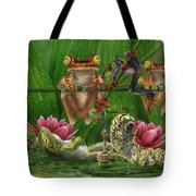 Toasted Frogs Tote Bag