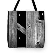 Tobacco Barn Wood Detail Tote Bag