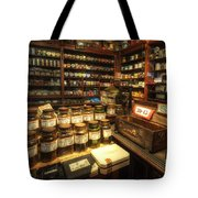 Tobacco Jars Tote Bag by Yhun Suarez