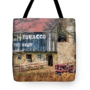 Tobacco Tractor Tote Bag