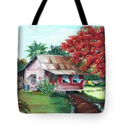 Tobago Country House Tote Bag
