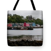 Tobermory Town Cityscape, Isle Of Mull Tote Bag