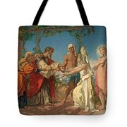 Tobias Brings His Bride Sarah To The House Of His Father Tobit Tote Bag