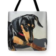 Toby Sits Still Tote Bag