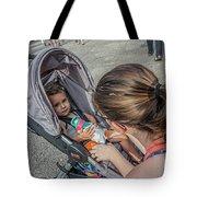 Toddler In Stroller 10512ct Tote Bag