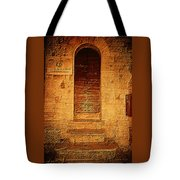 Todi Italy Medieval Door  Tote Bag