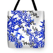 Toile Blue And White Tree Tote Bag