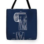 Toilet Paper Roll Patent 1891 Blue Tote Bag