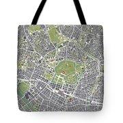 Tokyo City Map Engraving Tote Bag
