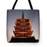 Tokyo Temple Lights At Dusk Tote Bag