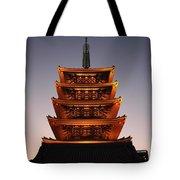 Tokyo Temple Lights Tote Bag