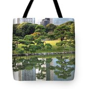 Tokyo Trees Reflection Tote Bag by Carol Groenen