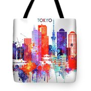 Tokyo Watercolor Tote Bag
