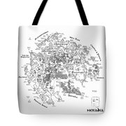 Tolkien Style Map Of Snowflakes Tote Bag