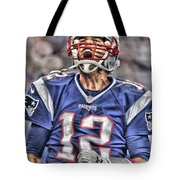 Tom Brady Art 5 Tote Bag