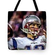 Tom Brady - Touchdown Tote Bag