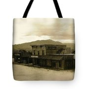 Tom Horn Set Overview Mescal Arizona 1980 Tote Bag