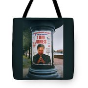 A Rare Collectible Poster Of Tom Jones In Russia Tote Bag